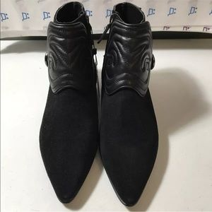 New Zara Womens Ankle Boots Size 9 Black Suede
